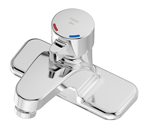 Symmons SLC-6000 SCOT 4 in. Centerset Single Handle Metering Lavatory Faucet in Polished Chrome (0.5 GPM)