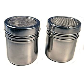 RD Espresso Stainless Steel Coffee Dredger Cocoa Powder Shaker (2-Pieces)