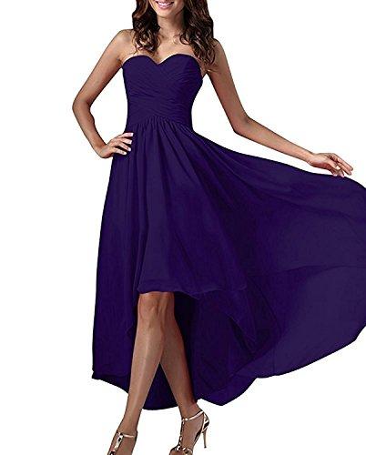 Dunkel Linie Dunkel Traegerlos Brautjungfernkleider Marie La Lo Chiffon Braut Lila Lila Partykleider A Abendkleider Hi HEnwH7qOXd