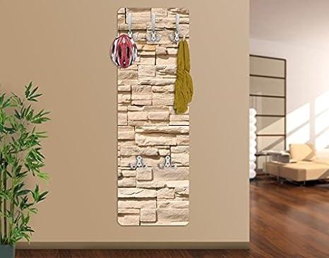 Attaccapanni Parete Con Pannello.Apalis 67497 Appendiabiti Da Parete Wall Of Ashlar Design
