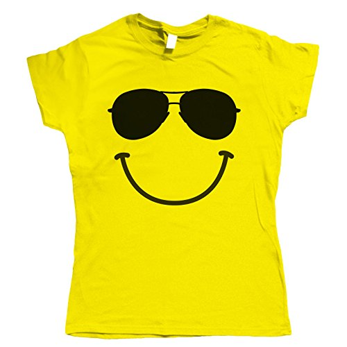 Soleil Festival T Vectorbomb Shirt Femmes Pour Smiley Lunettes Jaune De pTvvwqtgP