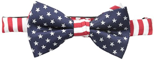 American Lifestyle Men's Star Pre-Tied Bow Tie in Navy, One Size ()