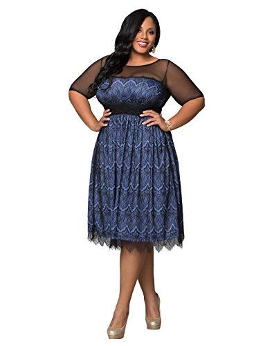 Kiyonna Women's Plus Size Vintage Dream Cocktail Dress