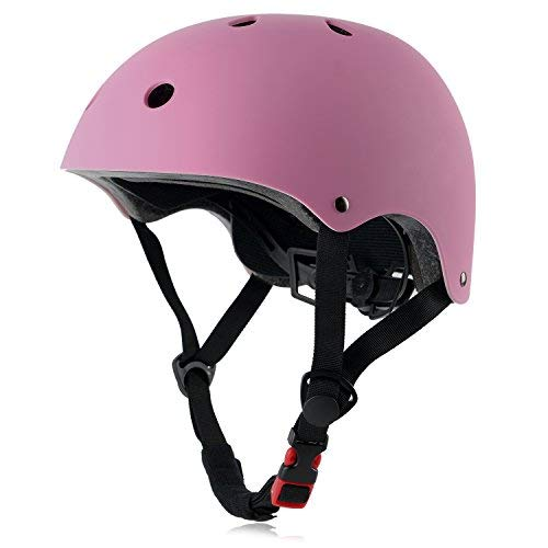 Ouwoer Kids Bike Helmet, CPSC Certified, Adjustable and Multi-Sport, from Toddler to Youth (Pink)