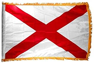 product image for Valley Forge Alabama 3x5ft Nylon Flag with Indoor Pole Hem and Fringe