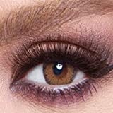 Bella Cosmetic Contact Lenses Glow, Color - Radiant Brown, Power - Plano