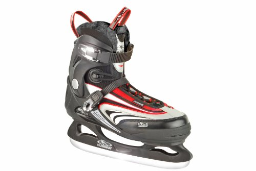 HUDORA Schlittschuhe Semisoft Iceskate Top Speed, Gr. 40, schwarz rot, 44940