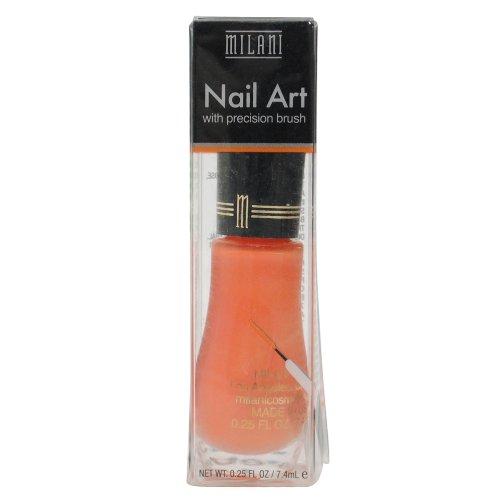 Milani Nail Art Nail Color #711 Orange Graph