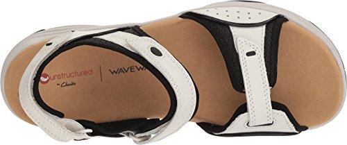Wave 5 D 6 Leather Grip US 2 CLARKS White Women's 50Tqfp