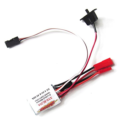 Hobbypower RC 20A ESC Brushed Motor Speed Controller for RC Car Boat W/O Brake