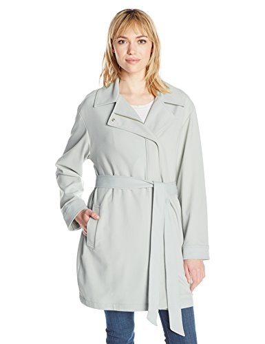 7 For All Mankind Women's Asymmetrical Fashion Drape Trench