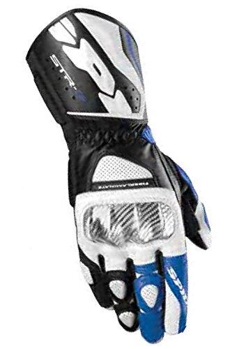 Spidi Sport S.R.L. STR-3 Gloves, Distinct Name: Black/Blue, Gender: Mens/Unisex, Size: 2XL, Apparel Material: Leather, Primary Color: Black A139-022-2X