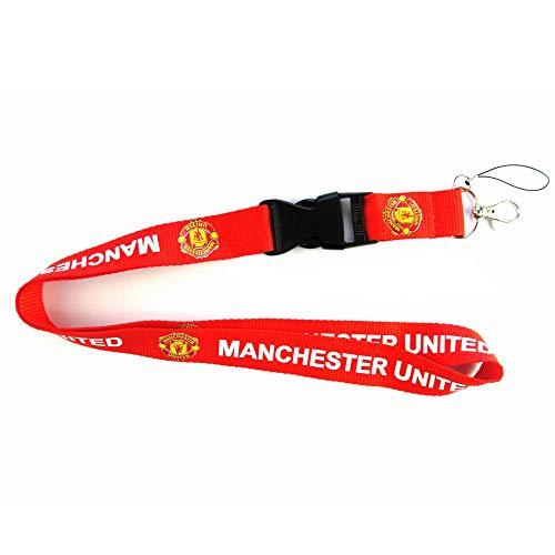 Football Club Soccer Team Lanyard Key|Mobile Phone|Papers Hanging Lanyard (ManchesterUnited Red, 21.61 inch) ()