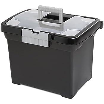 STERILITE Portable File Box  sc 1 st  Amazon.com & Amazon.com : Pendaflex Portable File Box Black 11