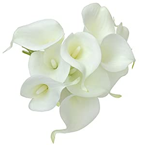 20pcs Calla Lily Artificial Flowers for Wedding Home Decorations Indoors Outdoors 50