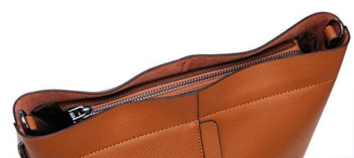 Bag Bag Handbag Women Brown Purse Tote For Bucket Fashion Iswee Bag Leather 7UxqgwRUf