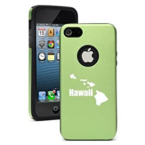 Apple iPhone 5 5S Green 5D5860 Aluminum & Silicone Case Cover Hawaii