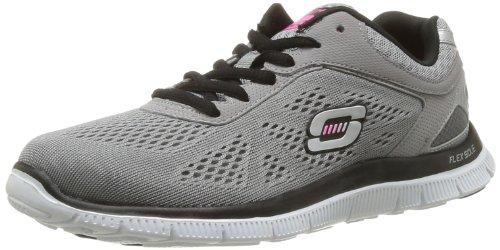 Skechers Flex AppealLove Your Style - Zapatillas de deporte Mujer Gris (Grau (LGBK))