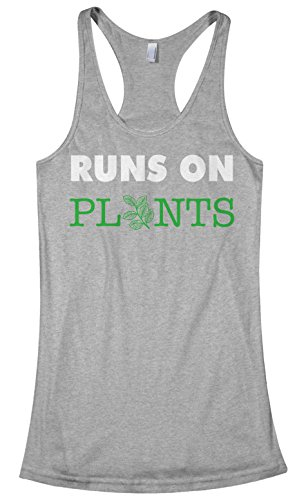 Threadrock Women's Runs On Plants Racerback Tank Top S Sport ()