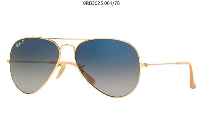 Image Unavailable. Image not available for. Color  Ray-Ban RB3025 001 78  Gold Frame   Gradient Blue Polarized Lens 58mm bc1ef5331aaf