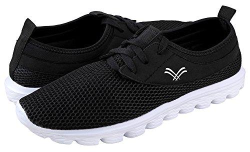 Urban Fox Herenbries Lichtgewicht Schoenen Voor Heren | Hardloopschoenen Voor Heren | Vrijetijdsschoenen | Wandelschoenen Voor Heren Zwart / Wit
