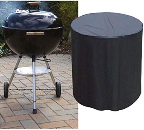 YEEXCD Housse de Barbecue Oxford imperméable Tissu PU revêtement Ronde Jardin extérieur Couvertures Patio Grill,24 * 28.5in