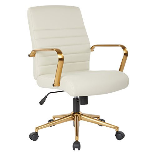 Ave Six FL22991G-U28 Baldwin Office Chair, Cream