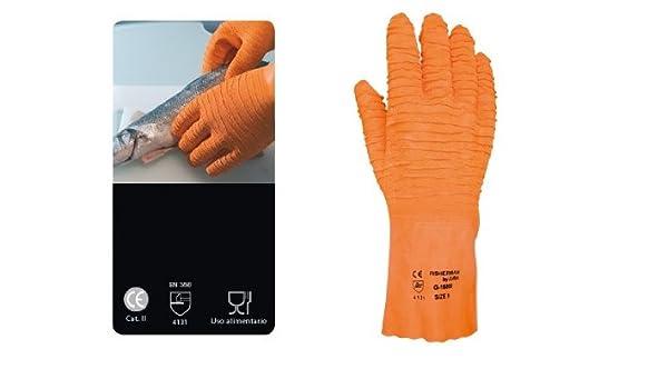 Juba - Guante anticorte latex+algodón talla 9 naranja: Amazon.es: Bricolaje y herramientas