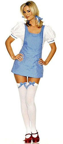 Dorothy Girl Adult Costume - Small/Medium (Dress Dorothy Apron)