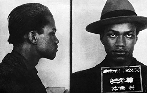 Home Comforts Peel-n-Stick Poster of Malcolm X Mugshot Minister Malcom Little Poster 24 x 16 Adhesive Sticker Poster Print
