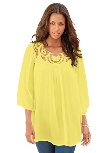 Roamans-Womens-Plus-Size-Lace-Tunic