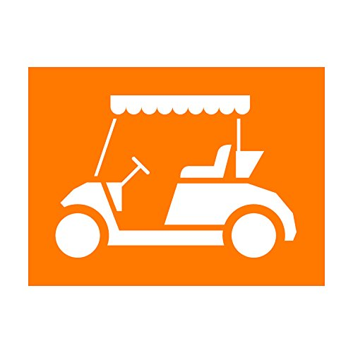 Auto Vynamics - STENCIL-GOLF-CART - Detailed Golf Cart Individual Stencil from Golf Silhouettes Stencil Set! - 10-by-7.5-inch Sheet - Single - Paint Stencils Auto