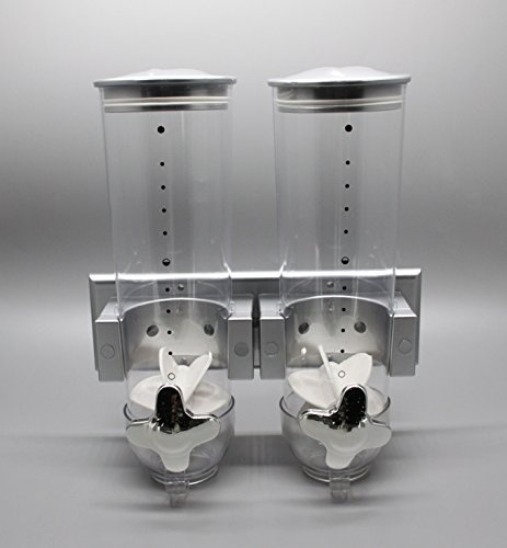 FixtureDisplays 7.5 Ounces New Type Wall Mounted Double Cereal Dispenser 15922