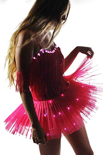 p Cowgirl Ballerina Dress Pink, 2 Light Settings, Replaceable Batteries (Small) Music Festival Dress ()