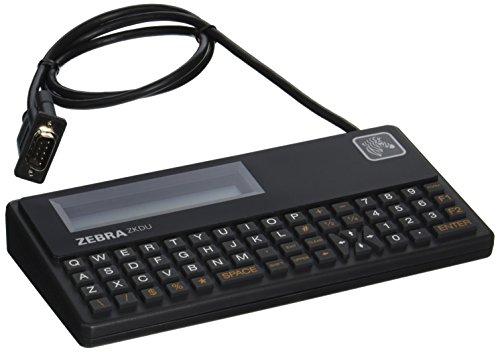 Zebra Technologies ZKDU-001-00 Series ZKDU Keyboard Display Unit for All EPL/ZPL Printer, 62-Key QWERTY Keyboard, Serial Port, Black