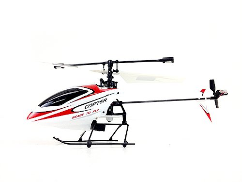 4CH 2.4GHz Mini Radio Single Propeller RC Helicopter Gyro V911 RTF Red & White]()