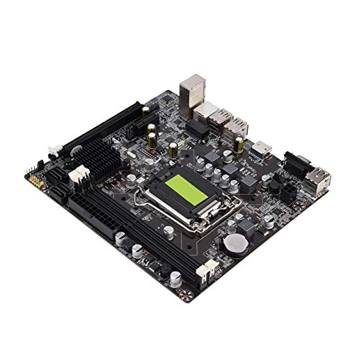 Ccylez H61 LGA 1155 Motherboard,Solid State Motherboard Support VGA + HDMI Dual Output,Computer Motherboard B Model Support DDR3 Memory 4 USB2.0