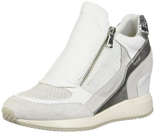 - Geox Women's D Nydame A Hi-Top Trainers, White (White C1000), 5 UK