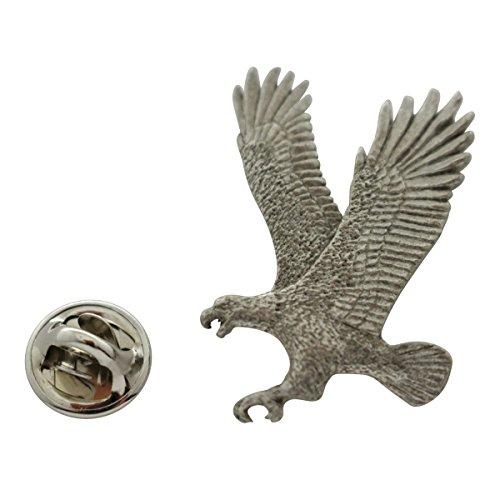 Flying Eagle Pin ~ Antiqued Pewter ~ Lapel Pin ~ Sarah's Treats & Treasures