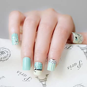 Amazon Melodi Ultra Chic Nail Polish Design Sticker Mint