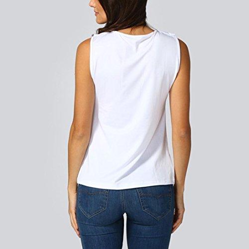 Shirt Solide Et Creux Col T Dbardeur Femmes Gilet Camisole Manche Sans Tops V bouriff Sexyville Casual Blanc Chemises vZFwPq