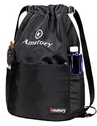 Drawstring Backpack Bag String Sackpack Gymsack Waterproof Gym Cinch Sack School