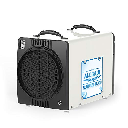 AlorAir Basement/Crawlspace Dehumidifiers 198PPD (Saturation), 90 PPD (AHAM), 5 Years Warranty, Condensate Pump, HGV Defrosting, Epoxy Coating, up to 2,600 Sq. Ft, Remote Monitorin