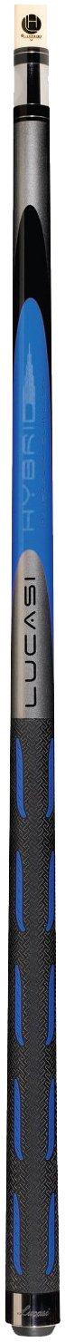 Lucasi Hybrid L-H10 Original Genesis Blue and Metallic Silver Golf Style Technology Cue, 18-Ounce