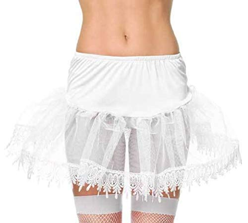 White Teardrop Lace Petticoat Costume Accessory Rave Dance Wear (Sexy Teardrop Petticoat)