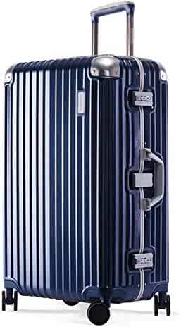 Z/&YY Trolley Suitcase Suitcase Suitcase Password Box Fashion Classic Striped Suitcase Female Suitcase Male Boarding Chassis 20//24 inch Color : Black, Size : 20 inches