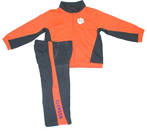 NCAA Officially Licensed Clemson Tigers TODDLER 2 Piece Top Gun Track Suit (3T) ()