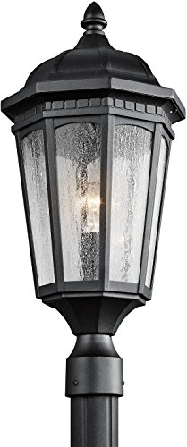 Kichler 9532BKT Courtyard Outdoor Post Mount 1-Light, Textured Black
