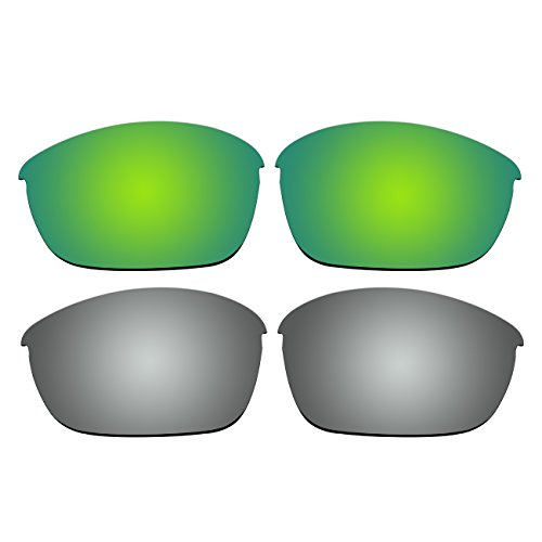 647bcac83b Replacement Polarized Emerald Green and Titanium Lenses for Oakley Half  Jacket 2.0 Sunglasses - Buy Online in Oman.