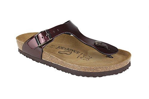 Sandalo Joe Joyce Rio Synsoft Sandalo In Pelle Bordeaux Taglia 38 Normale